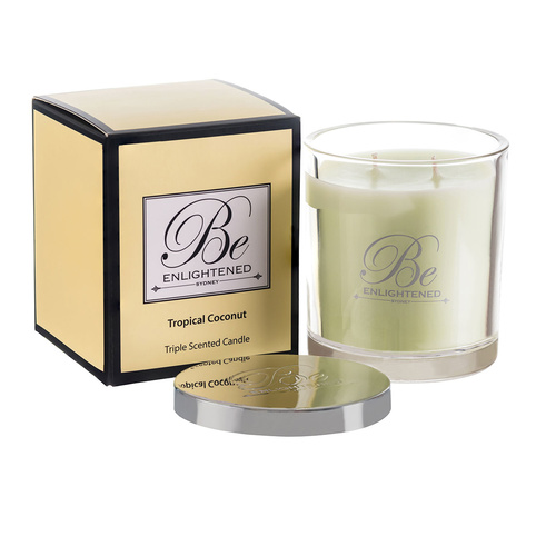 Be Enlightened Tropical Coconut Candle
