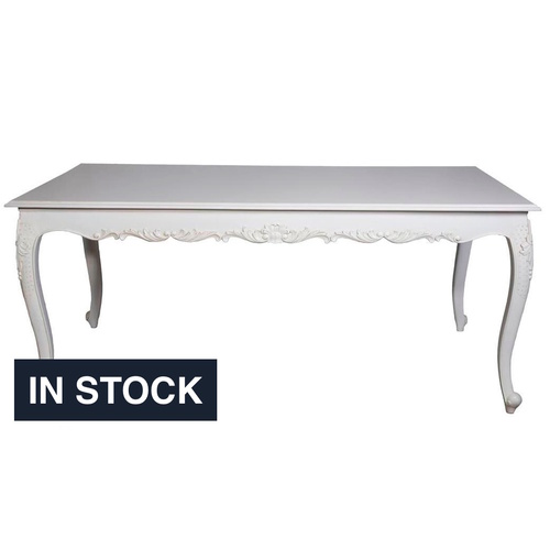 Zoe French Rectangular Dining Table 1.6m -In Stock