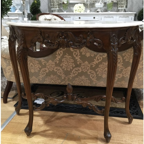 Laurel Marble Hall Table