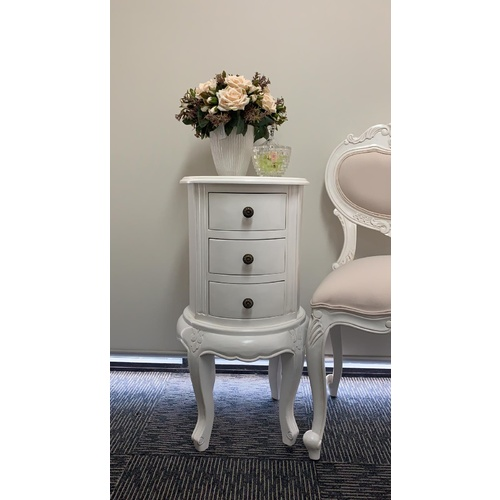 Adrianne Three Drawer Bedside Table